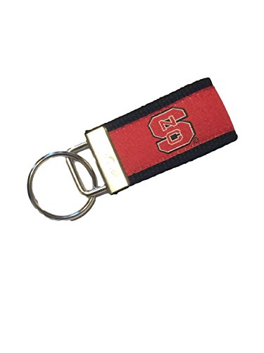 NC State Wolfpack , NCAA Key Fob Keychain- (North Carolina State Wolfpack Keychain)