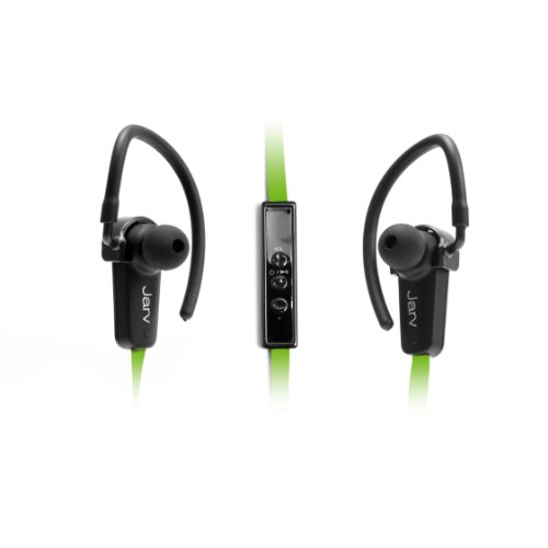 jarv nmotion sport wireless bluetooth 4 0 stereo earbuds headphones with in line microphone. Black Bedroom Furniture Sets. Home Design Ideas