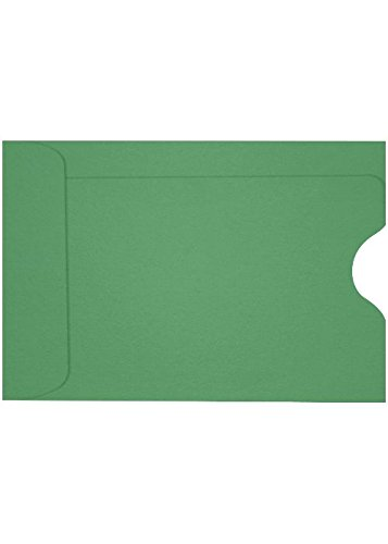 Credit Card Sleeve (2 3/8 x 3 1/2) - Holiday Green (50 Qty.) | Perfect for The Holidays, Gift Cards, Credit Cards, Debit Cards, ID Cards and More! | LUX-1801-L17-50