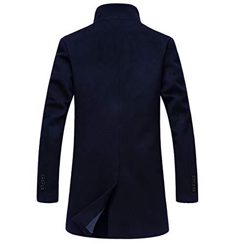 Blouson Survêtement Homme Chaud Marine coat Manteau Hiver De Long Trench Kobay Bouton RCwdHqC