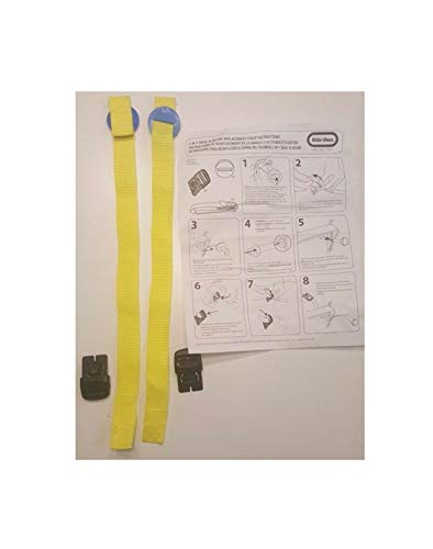 Tikes 2in1 Snug N Secure Swing Replacement Straps Buckles/Harness Black Quick Arrive