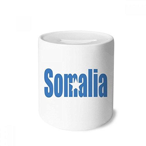DIYthinker Somalia Country Flag Name Money Box Saving Banks Ceramic Coin Case Kids Adults