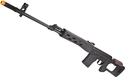 450 Fps Airsoft Type - Evike CYMA Full Metal AK Dragunov SVD Airsoft AEG Sniper Rifle - Black