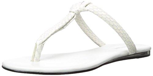 Calvin Klein Harla soporte de sandalias de la mujer Platinum White