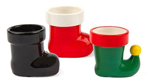 Holiday Shot Glass - BigMouth Inc Holiday Boots Shot Glasses - Set of 3