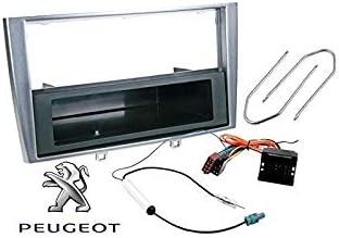 Sound Way 1 Din Autoradio Radioblende Radiorahmen Iso Verbindungskabel Antennenadapter Schlüssel Kompatibel Mit Peugeot 308 Navigation