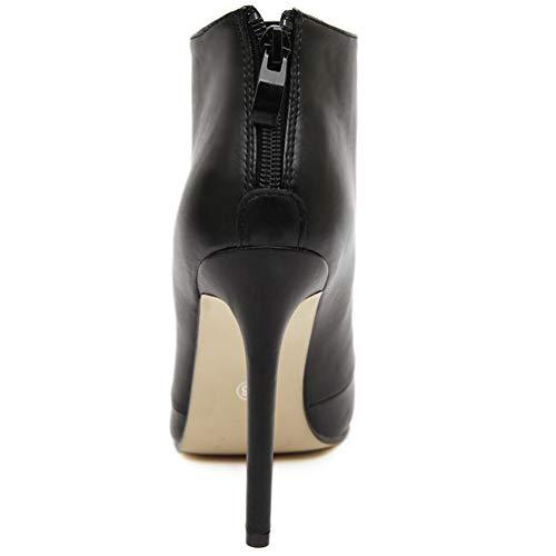 Las Mujeres Bombas de Tacones Altos Botas Punta Estrecha Zapatos Vestido de Fiesta de la Boda de Las Mujeres del Estilete Botines Cortos: Amazon.es: Zapatos ...