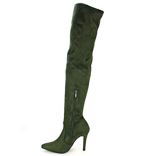 Cendriyon Femme Rosalia Simili Cuissarde Kaki Chaussures Daim qSqFAC4wx
