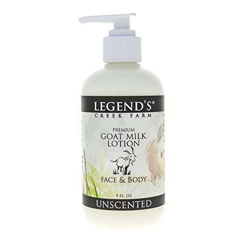 (Unscented Goat Milk Lotion - 9 Oz Bottle - Paraben Free, Gentle & Natural For Sensitive Skin - Certified Cruelty)