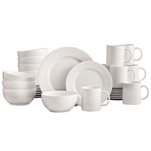 (Pfaltzgraff Filigree White 32 Piece Dinnerware Set, Service for 8)