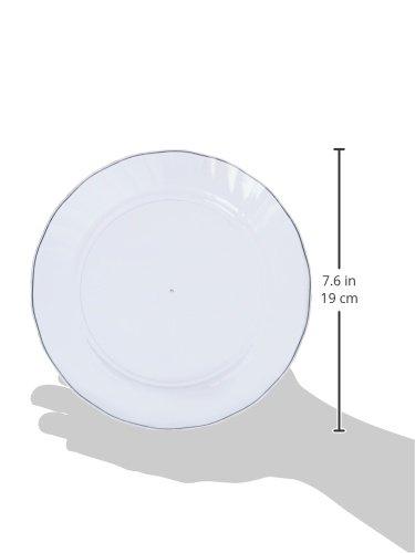 AmazonBasics Disposable Plastic Plates - 100-Pack, 7.5-inch by AmazonBasics (Image #4)