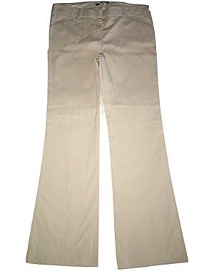 Theory Women's Max C Kansas Pinstripe Trouser Pants Blush (Tan/White) Size 12