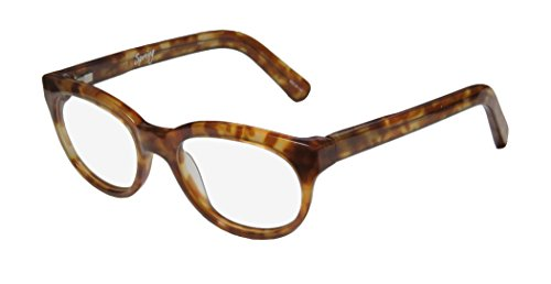 Elizabeth And James Spring Womens/Ladies Optical Contemporary Designer Full-rim Spring Hinges Eyeglasses/Eye Glasses (49-18-140, Amber Pattern)