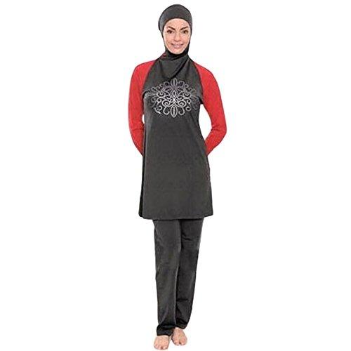 Free fisher Musulmán trajes de baño traje de natación swimwear ropa de playa femenino mujeres islámicas rojo