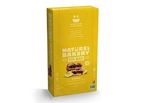 Nature's Bakery Whole Wheat Fig Bars, Lemon (12 Bars), Packaging May Vary, Non GMO, Vegan Snacks