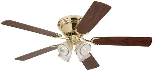 Westinghouse 7871600 Contempra IV Four-Light 52-Inch Five-Blade Indoor Ceiling Fan, (Polished Four)