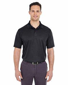 UltraClub Mens Cool & Dry Mesh Piqué Polo (8210) Black 6XL