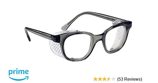 Glass Safety Glasses in Plastic Smoke Gray Safety Frame with ...