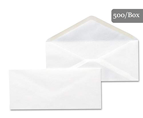 1InTheOffice #10 White Gummed Seal Business Envelope 4 1/8