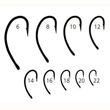 Mustad CADDIS CURVED Signature Fly Hooks Size 16 50ct - C49SNPBR1650 Signature Hooks Hook