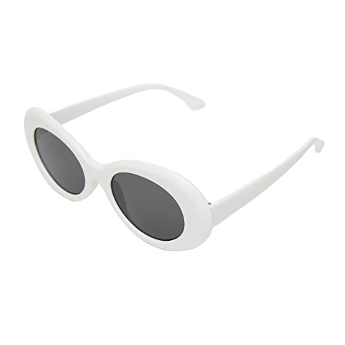 Clout Goggles With An Oval Retro Style White Kurt Cobain - Supreme Cobain Sunglasses