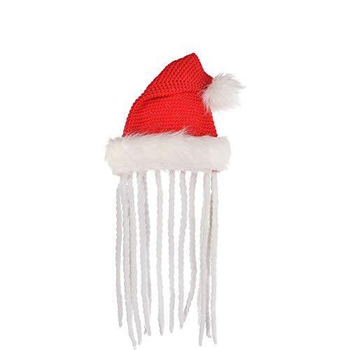 amscan Rasta Knit and Plush Santa Hat | Christmas Accessory -