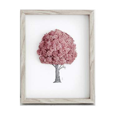 Reindeer Moss Frame for Air Purification Function Pink Color by ReinD Moss tree