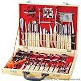 International Culinary Carving Set 80 Piece, Wood Case by HIC Harold Import Co.