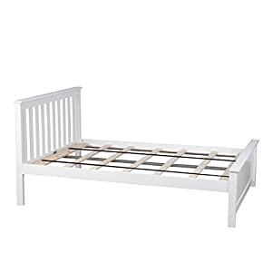 max u0026 lily solid wood fullsize bed white