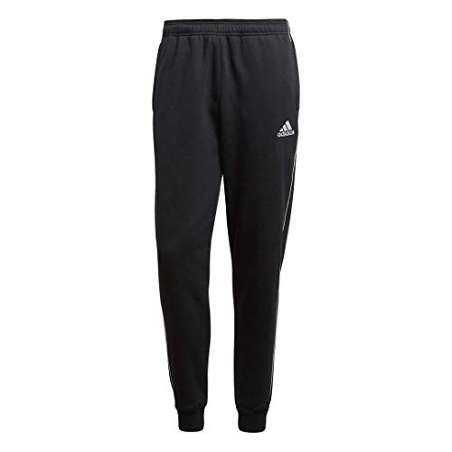 adidas Men's Soccer Core 18 Sweat Pants, Black/White, X-Large