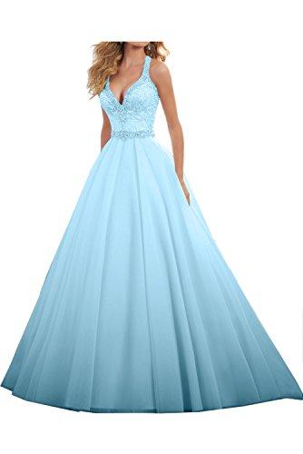Lang Ivydressing Abendkleider Festkleid Damen Liebling Hellblau Ballkleid A Hochzeitskleid Steine Linie qP6qYA