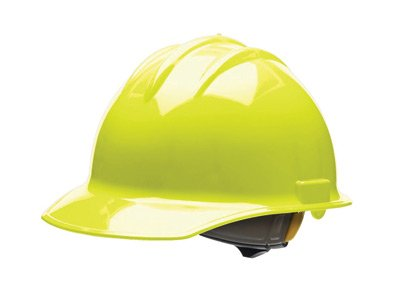 Bullard® Hi-Viz Yellow Class E or G Type I Classic C30 3000 Series HDPE Cap Style Hard Hat With 6-Point Ratchet Suspension, Accessory Slots, Chin Strap Attachment And Absorbent Cotton ()