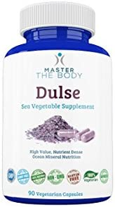 Dulse Capsules – Certified Organic 650 MG PER Capsule, 90 Count Bottle – The Same Source Used by Dr. Lorn Allison in The Master The Body Clinic