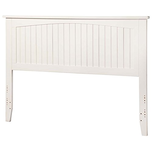 King Headboard in White by Atlantic Furniture
