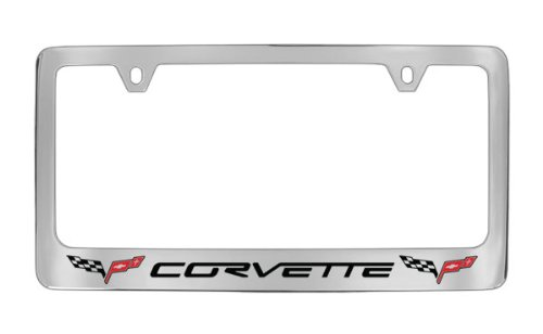amazoncom c6 corvette license plate frame with c6 flags automotive