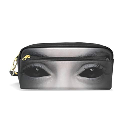 Top Carpenter Pencil Case Pouch Bag Halloween Evil Female Eyes for Makeup Office Student 7.9x2.4x3.5in]()