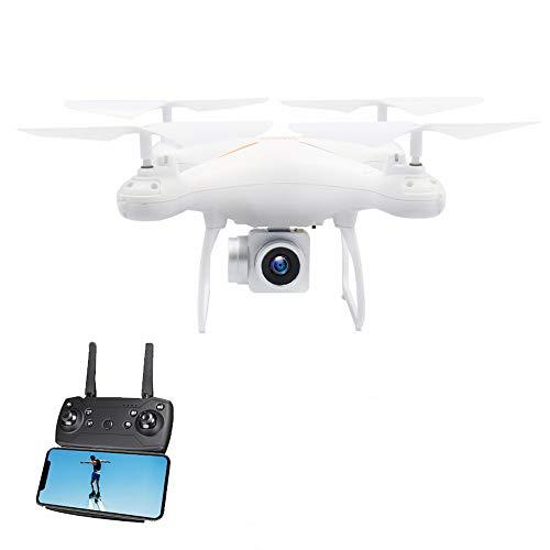 Drone 1080P HD con Cámara 4CH de Largo Tiempo Flying WiFi FPV, Mini Drone Altitude Hold Modo sin Cabeza, Profissional UAV (Blanco)