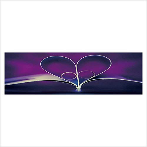 Background Sign of a Heart of Beautiful Wedding Golden Rings Wallpaper Fish Tank Backdrop Static Cling 29.5