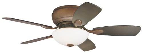 44' Casa Habitat Oil-Rubbed Bronze Hugger Ceiling Fan