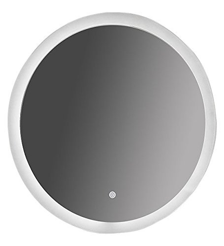 SUNNY SHOWER Circle Backlit Led Bathroom Vanity Sink Silvered 4mm Mirror With Touch Button, 24'' L by SUNNY SHOWER