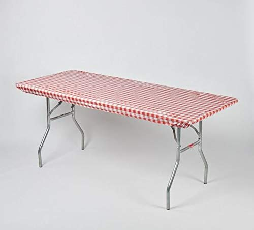 Kwik-Covers 30 x 96 Red White Gingham Check 6 Pack