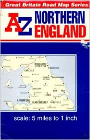 A Z Map Of England.A To Z Road Map Of Great Britain 5m 1 Northern England