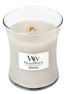 Woodwick 92052 Bougie Ovale, Verre, Clair, 9,8 x 9,8 x 11,9 cm