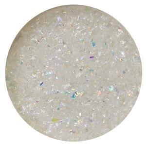 1 Oz Rainbow Dichroic Medium Frit Flakes On Clear - 90 (Flakes 1 Ounce Tube)