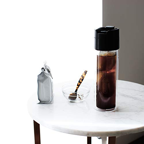 Soma Double Wall Glass Tea and Coffee Cold Brew Bottle, 12-ounce, Black by Soma (Image #3)