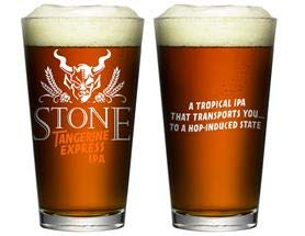 Stone Brewing Company Tangerine Express Pint Glass - 1 Glass (Company Stone Brewing)
