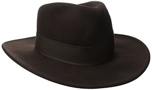 Indiana Jones Dark Brown Fedora Hat Medium (Jones Hat)