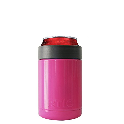 rtic hot pink can cooler or bottle colster camping companion. Black Bedroom Furniture Sets. Home Design Ideas