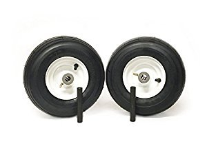 NoAir (2) Universal 11x4.00-5 Ribbed Caster Wheel Assembly 3/4