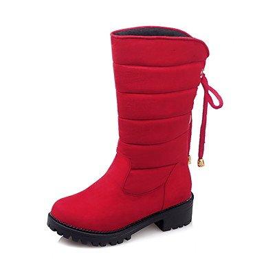 Donna Autunno Carriera Bowknot Grigio Pile Casual amp; Comfort Nero Rosso up Ufficio Stivali Lace Athletic Heel Red In Inverno Desy Da Escursioni Chunky Primavera PpExMIq